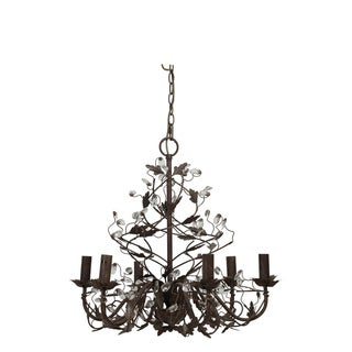 Urban Designs Crystal Iron Hanging Lamp Chandelier