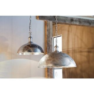 Urban Designs Andora High Design Raw Nickel Hanging Lamp