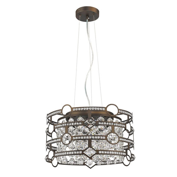 Acclaim Lighting Meghan Indoor 5-Light Oil-Rubbed Bronze Pendant With Crystal