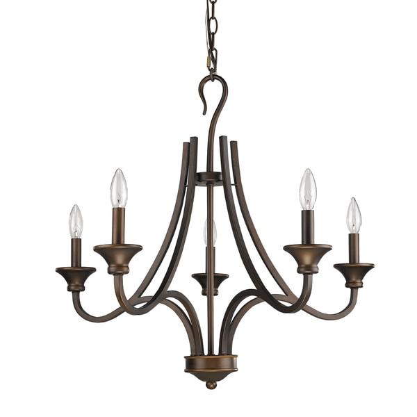 Acclaim Lighting Michelle Oil-rubbed Bronze Steel Indoor 5-Light Chandelier