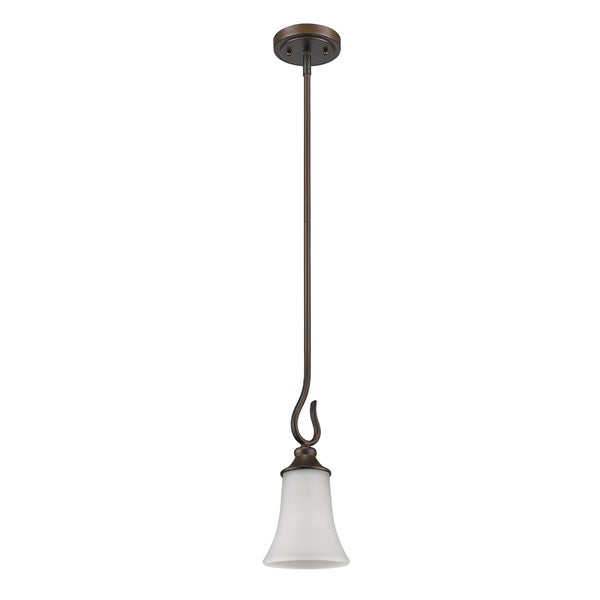 Acclaim Lighting Michelle Indoor 1-Light Mini Pendant With Glass Shade In Oil Rubbed Bronze