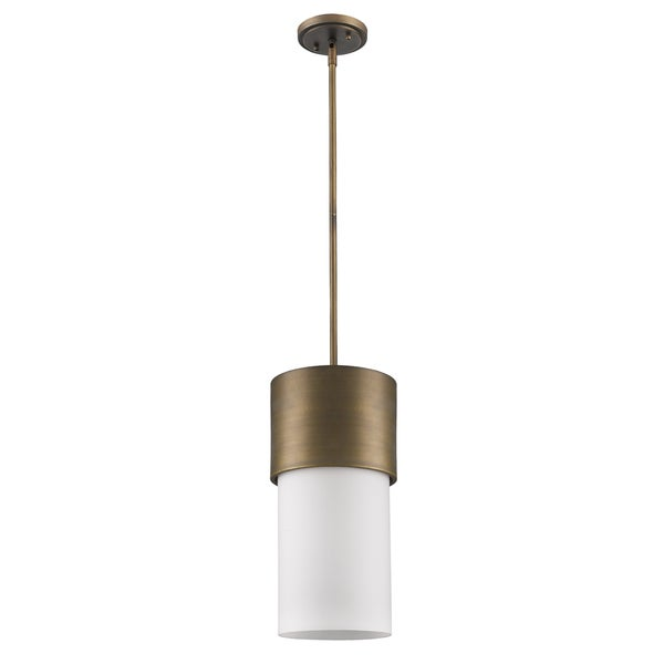 Acclaim Lighting Midtown Indoor 1-Light Pendant With Glass Shade In Raw Brass