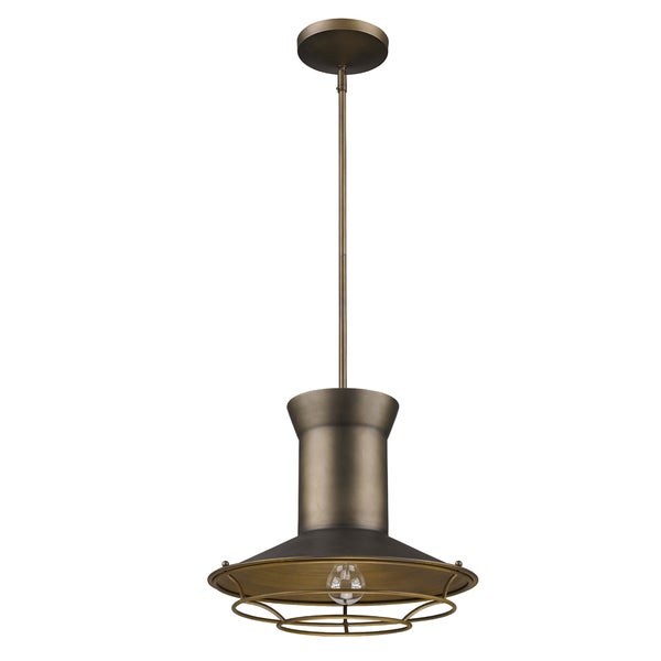 Acclaim Lighting Newport Indoor 1-Light Pendant With Louver In Tin Coated Finish