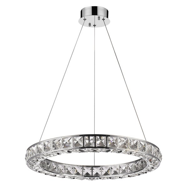 Acclaim Lighting Noemi Indoor LED Round Crystal Chandelier in Chrome