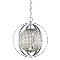 Acclaim Lighting Olivia Polished Nickel Finish Steel 1-light Indoor Pendant With Crystals