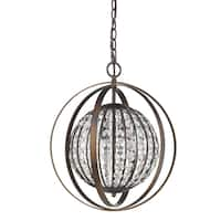 Acclaim Lighting Olivia Indoor 1-Light Oil-Rubbed Bronze Pendant With Crystal