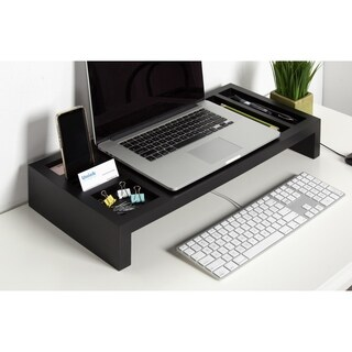 Kate and Laurel Briggs Wood Laptop Stand