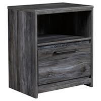 Baystorm Smokey Grey 1-drawer Nightstand
