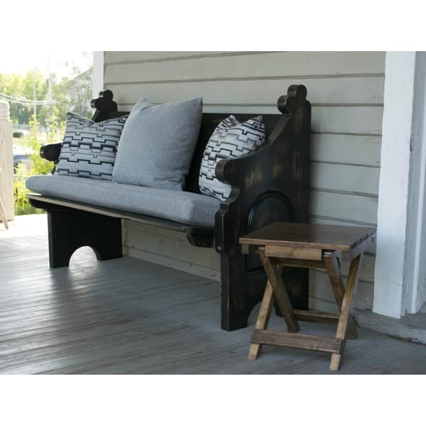 Fabulous Shop Indoor Outdoor Solid Wood Pew Bench With Hancock Ends Andrewgaddart Wooden Chair Designs For Living Room Andrewgaddartcom