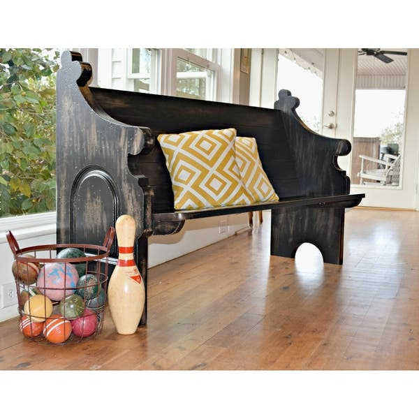 Fabulous Shop Slatted Back Indoor Outdoor Solid Wood Pew Bench With Beatyapartments Chair Design Images Beatyapartmentscom
