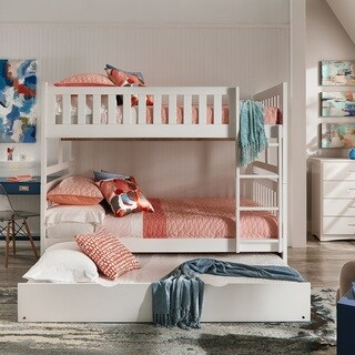 Hunter Full over Full White Wood Bunk Bed by iNSPIRE Q Junior