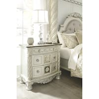 Ashley Cassimore Pearl and Silvertone Wood and Resin 2-drawer Nightstand