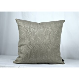 20 Inch Indoor Outdoor Sunbrella Throw Pillow Deco Divide Polished Pewter