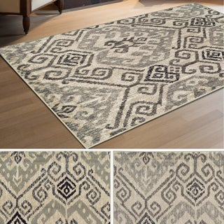 Superior Designer Damask Area Rug Collection  (4' X 6')