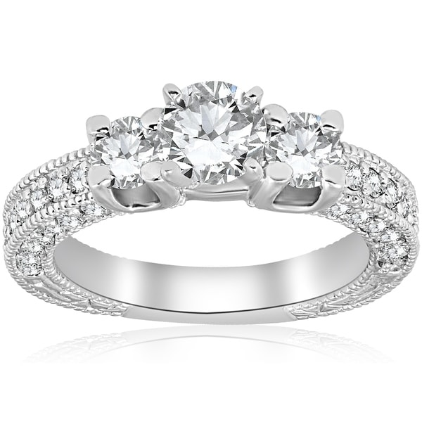 Shop Bliss 14K White Gold 2 Ct TDW Diamond Clarity