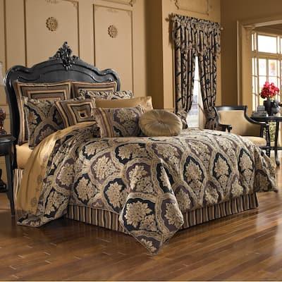 Five Queens Court Reilly Woven Chenille Damask 4-piece Comforter Set