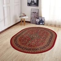 Ottomanson Ottohome Persian Heriz Oriental Design Oval Area Rug (5' X 7')