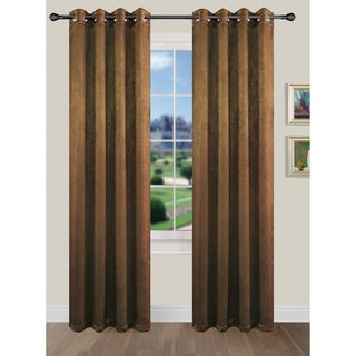 Popular Home Arcadia Microsuede Cusrtain Panel