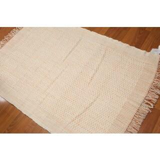 Shabby Chic Reversible Kilim Flat Weave Area Rug (4'x6')