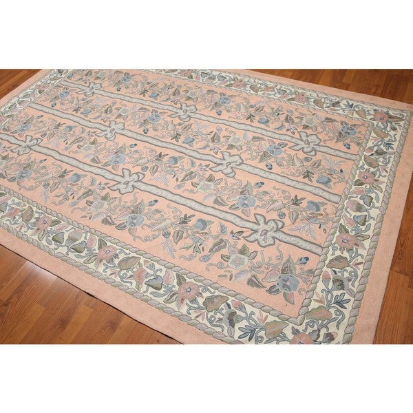Country Cottage Fl Panels French Aubusson Needlepoint Area Rug Multi