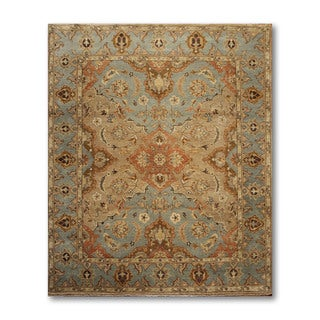 Contemporary Couristan Wool & Silk Oriental Area Rug - 8' x 10'