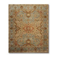 Contemporary Couristan Wool & Silk Oriental Area Rug - 8'x10'