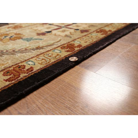 Momeni Arts and Crafts Design Oriental Area Rug - Chocolate Brown/Beige - 9' x 12'