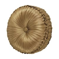 Five Queens Court Reilly Tufted Round Decorative Throw Pillow