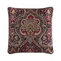 Five Queens Court Remington Woven Chenille Stripe Euro Square Throw Pillow