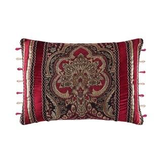 Five Queens Court Remington Woven Chenille Damask Boudoir Throw Pillow