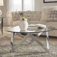 Marlin Angular Chrome and Glass Accent Tables by iNSPIRE Q Bold