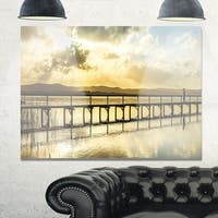 Long Jetty Foreshore Reserve Panorama - Sea Bridge Glossy Metal Wall Art