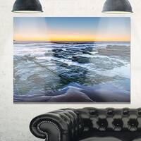 Sunrise Over Wide Sydney Ocean - Large Seashore Glossy Metal Wall Art