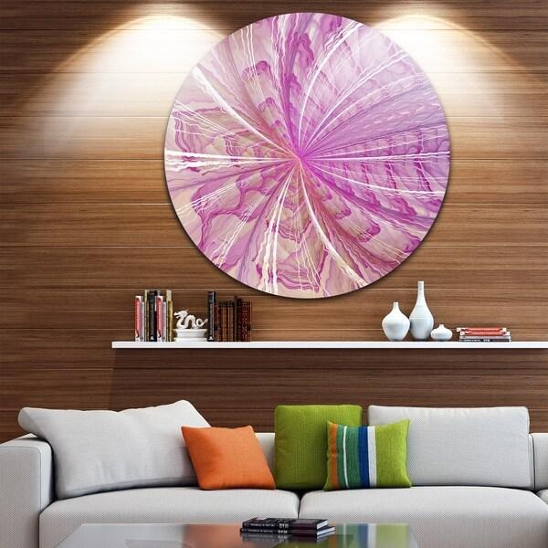 Shop Designart \'Symmetrical Light Purple Fractal Flower\' Modern ...