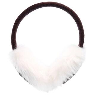 Women's Winter Knit Faux Fur Plush Ear Muffs