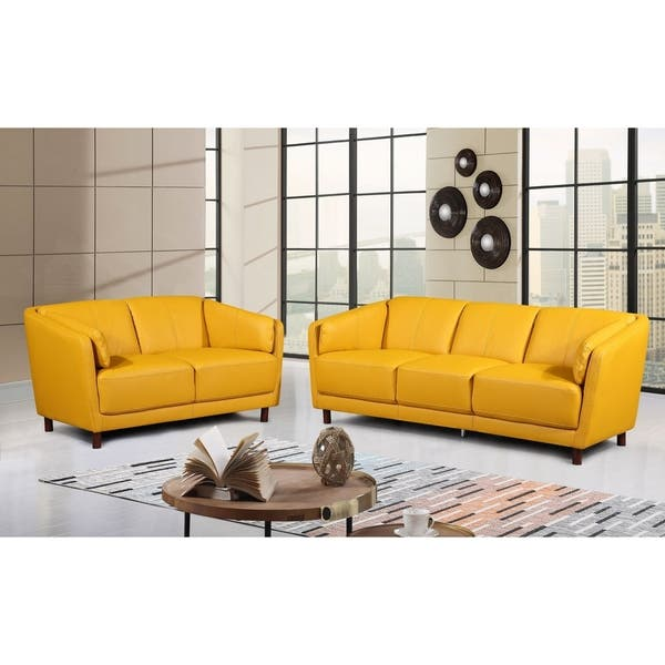 Admirable Shop Vivian Mid Century Air Leather Fabric Sofa Set Free Inzonedesignstudio Interior Chair Design Inzonedesignstudiocom