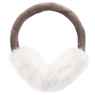 Women's Winter Knitted Faux Fur Plush Earmuffs