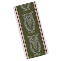 Owl Jacquard Dishtowel Set of 4