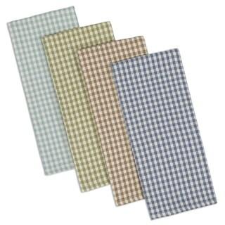 Lake House Check Dishtowel & Dishcloth Set of 8
