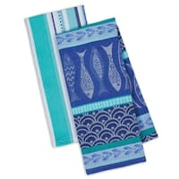 Santorini Fish Dishtowels Set of 4