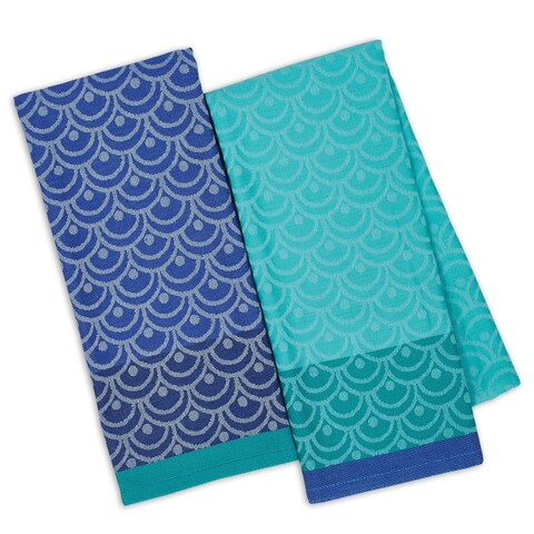 Scallops Jacquard Dishtowels Set of 4