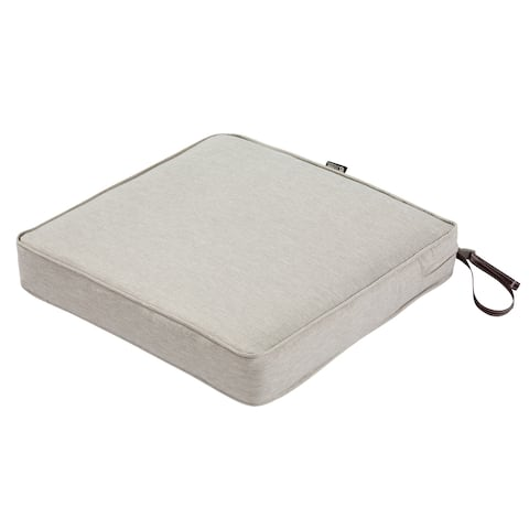 Classic Accessories Montlake Water-Resistant 19 x 19 x 3 Inch Patio Seat Cushion