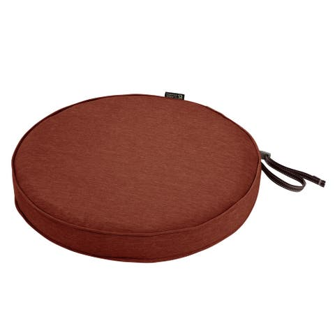 Classic Accessories Montlake Water-Resistant 15 Dia x 2 Inch Patio Dining Seat Cushion