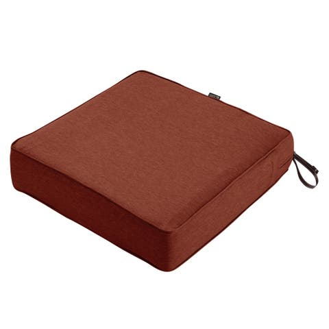 Classic Accessories Montlake Water-Resistant 23 x 23 x 5 Inch Patio Seat Cushion