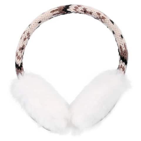 Faux Fur Fluffy Knit Patterned / Sequin Ear Warmers