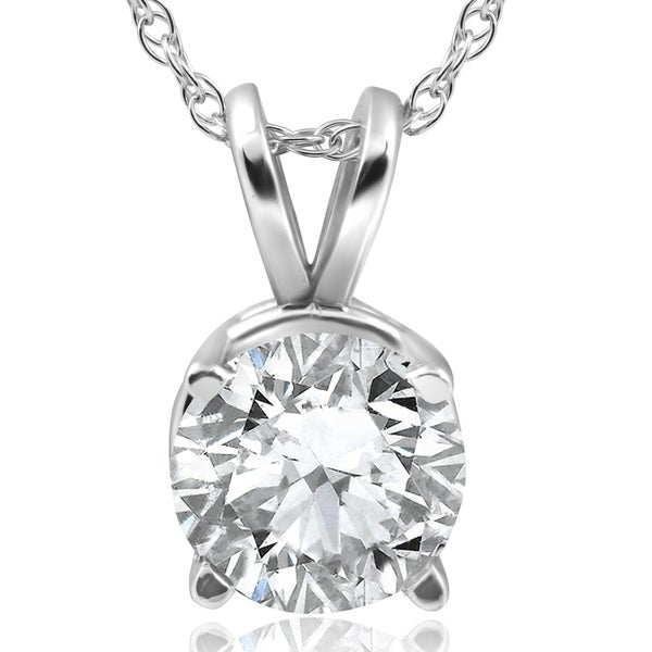 Shop Pompeii3 14k White Gold 2 Ct TDW Solitaire Diamond
