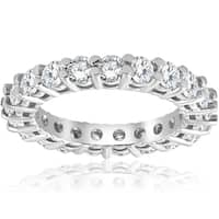 Bliss 2 3/8 cttw 14K White Gold Round Shared Prong Diamond Eternity Ring - White H-I