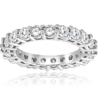 Bliss 2 3/8 cttw 14K White Gold Round Shared Prong Diamond Eternity Ring - White H-I