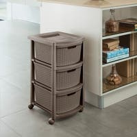 Three Drawer Rolling Cart