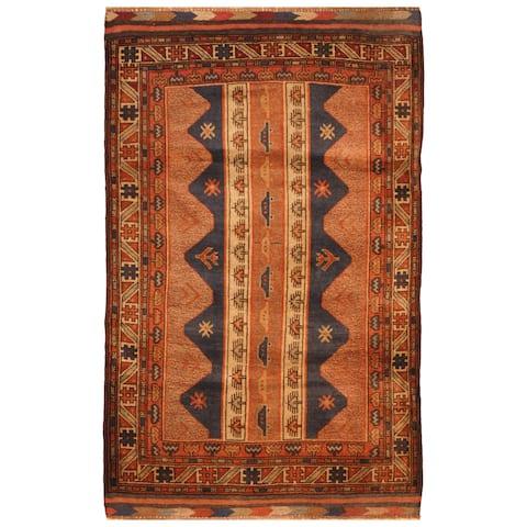 Handmade One-of-a-Kind Balouchi Wool Rug (Afghanistan) - 2'10 x 4'8